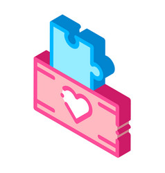 Volunteers support game box isometric icon vector