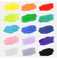 Watercolor blots collection vector