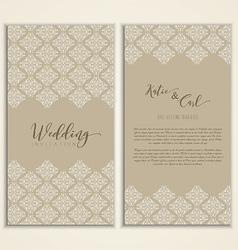wedding invitation 1509 vector image