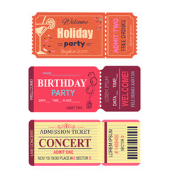 Welcome holiday party set vector