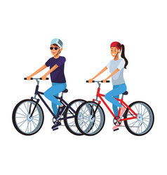 women in bicicles vector image