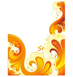 drink wave background vector image