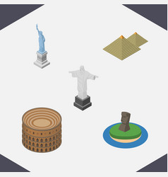 isometric attraction set of rio chile coliseum vector image vector image