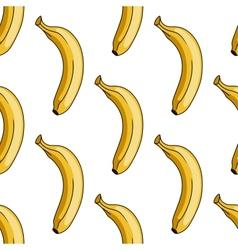 Seamless pattern of yellow banana vector image