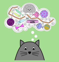 with cute cat vector image