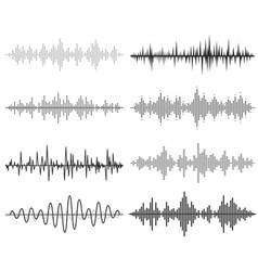 black music sound waves audio technology vector image