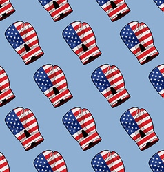 Boxing Glove with flag of America seamless pattern vector image