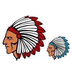 Brave tomahawk mascot vector image vector image