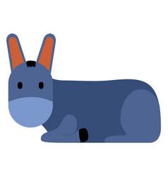 cute donkey icon vector image