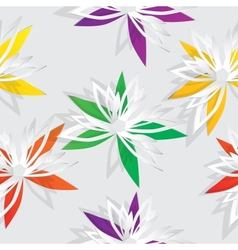 Flower cut out of paper vector image vector image