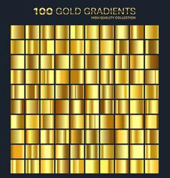 goldgolden gradientpatterntemplateset of vector image vector image