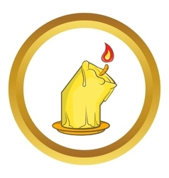 Halloween burning candle icon vector image vector image