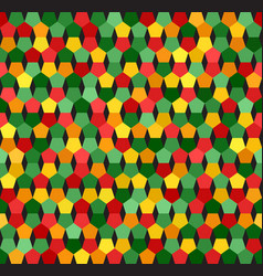 Pentagon pattern seamless geometric background vector