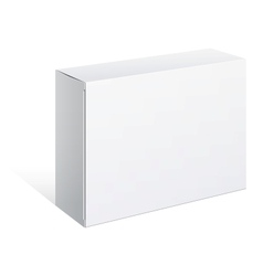 Realistic White Package Box For Software vector image vector image