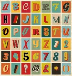 Retro alphabet for you business presentations vector image vector image