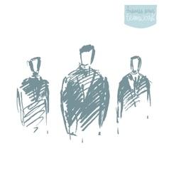 Standing businessman concept sketch vector image vector image