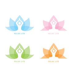 yoga symbol icon design vector image vector image