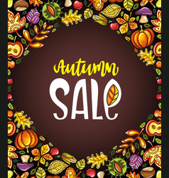 autumn harvest festival greeting card background vector image vector image