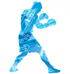 boxing arrow background vector image vector image