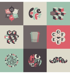 Coffee emblems and labels - Set of posters vector image