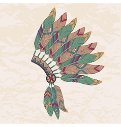colorful of native american indian chief hea vector image