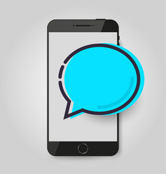 mobile phone chat message chat bubble concept of vector image vector image
