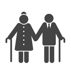 older couple icon vector image vector image