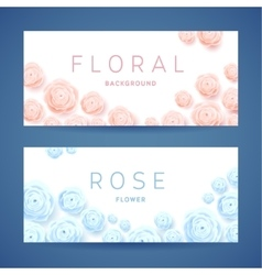 Pastel Roses on White Background Poster vector image
