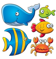 Sea Fish Collection vector image vector image