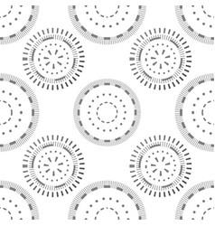 seamless pattern with grey circles and dots vector image vector image