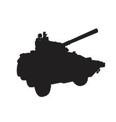 self-propelled artillery vector image vector image