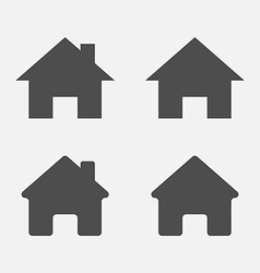 Set of home icons Home sign symbol vector image