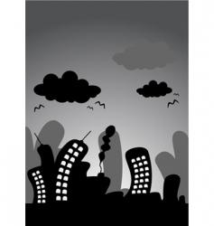 cartoon city vector image vector image