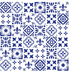 geometric tile design portuguese or spnish vector image vector image