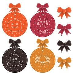 halloween labels vector image