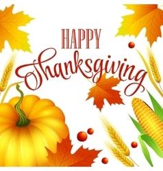 Thanksgiving autumn card vector image vector image