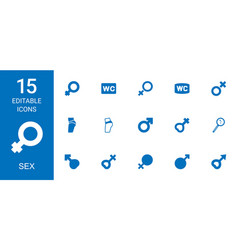 15 sex icons vector