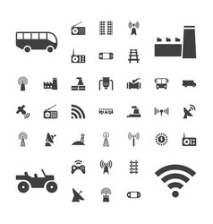 37 station icons vector