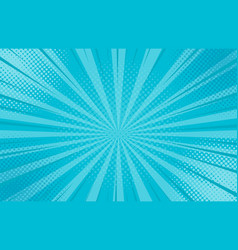abstract blue striped retro comic background vector image