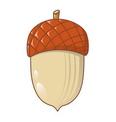 acorn nut icon cartoon style vector image