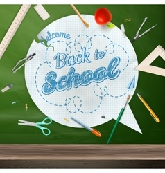 Back to school concept still life EPS 10 vector image