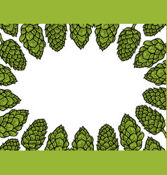 background of hop vector image