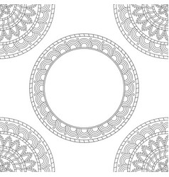 background with floral mandalas coloring book vector image