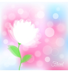 Background with transparent delicate flower vector