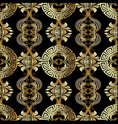 Baroque seamless pattern greek background vector