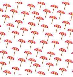 Beach umbrella summer pattern vector