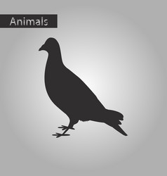 Black and white style icon of dove vector