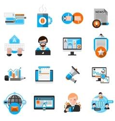 Blogging Icons Set vector image