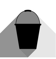 bucket sign for garden black icon with vector image