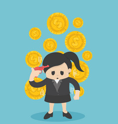 business woman losing his money business flat vector image
